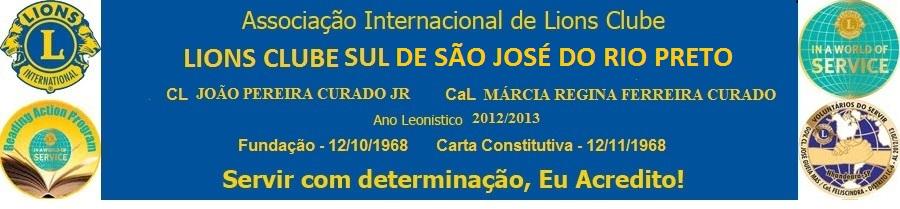 LIONS CLUBE SUL DE SÃO JOSÉ DO RIO PRETO