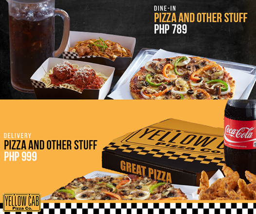 Have Pizza and Other Stuff With Yellow Cab Pizza Philippines