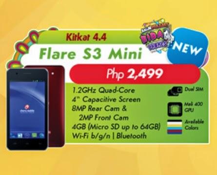 Cherry mobile flare s3 mini vs skk mobile lynx edge price and specs