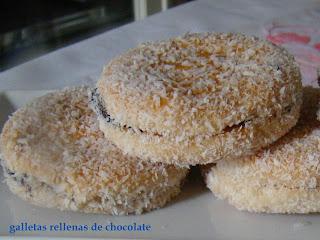 galletas rellenas de chcoclate