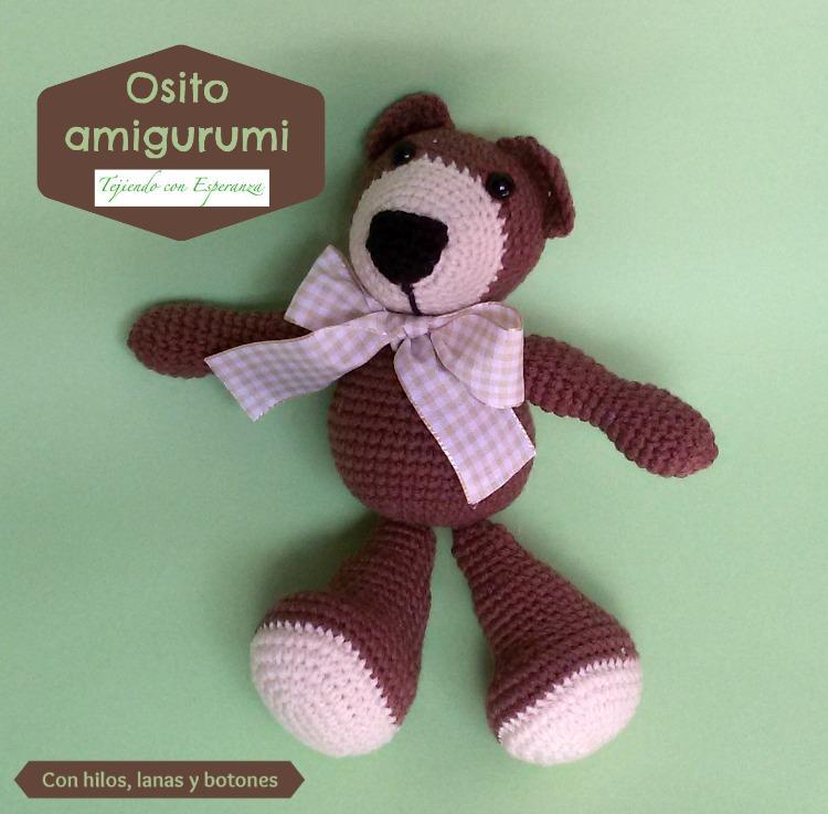 Tejiendo Peru Amigurumi Unicornio : Tejiendo con Esperanza - Osito amigurumi Con hilos ...