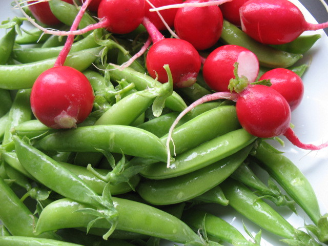 Sugar Snap Pea andRadish Salad with Feta and Dill