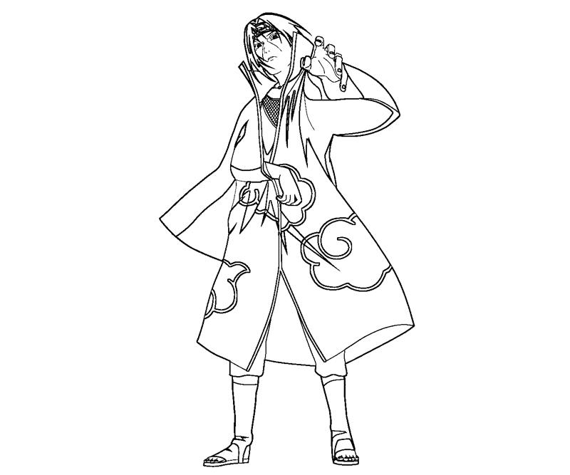 Free Coloring Pages Of Uchiha Para Colorear Itachi Coloring Pages