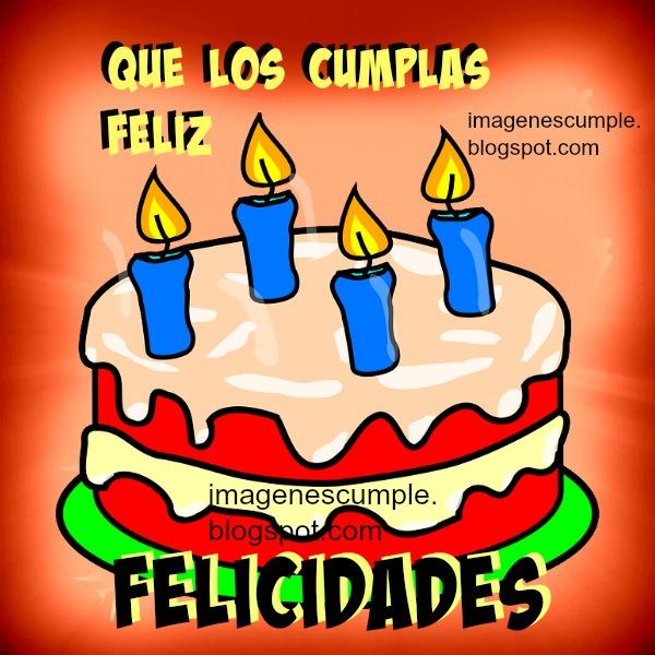 Tarjeta de cumpleaños con bonito pastel para niños, hombre o mujer. Mensaje positivo para el día de cumpleaños.