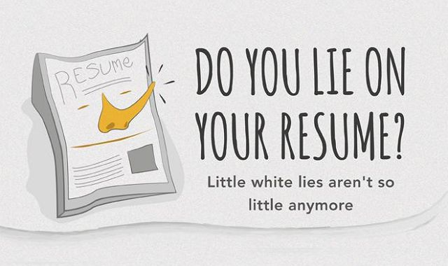 do you lie on your resume   infographic