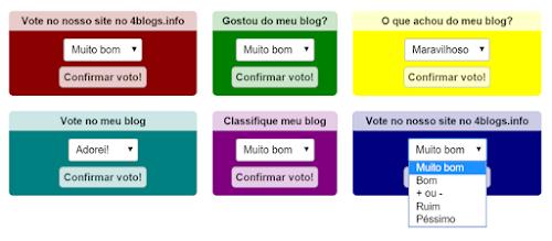 Novo Widget de votos e novo sistema de pontuação para blogs