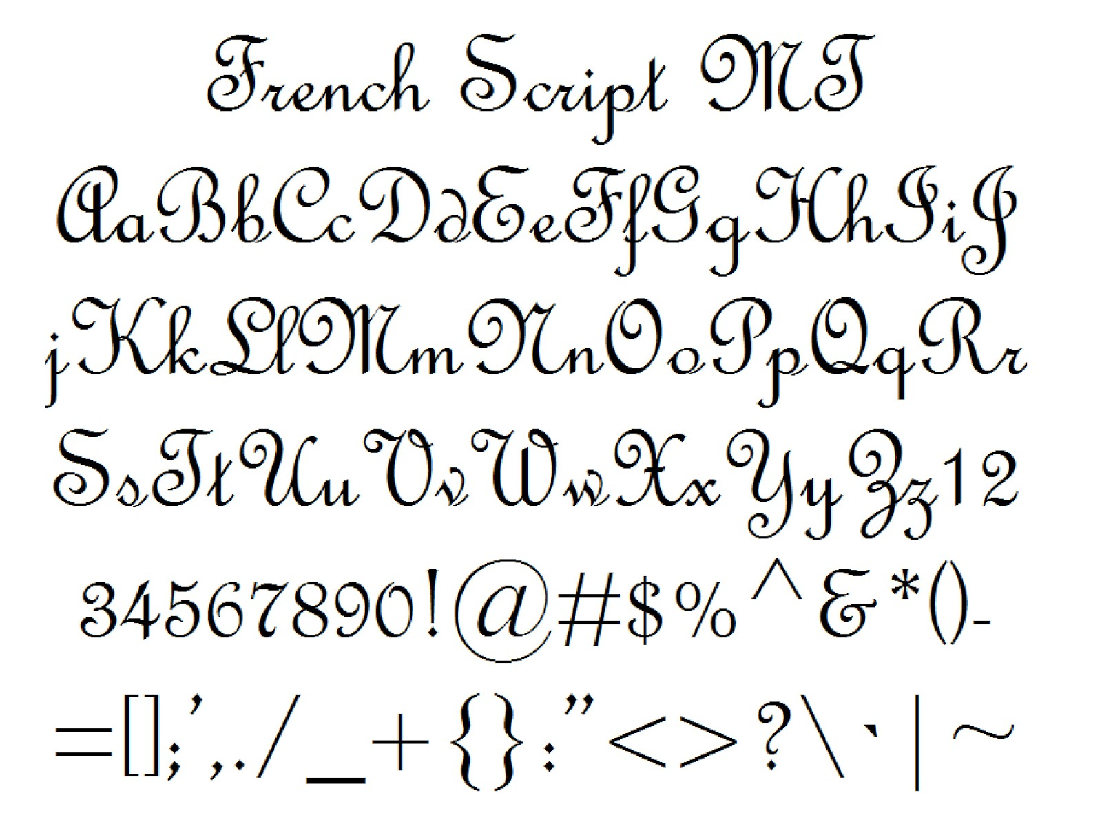 The Gallery For French Cursive Alphabet