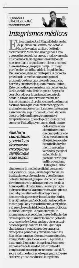 Sánchez-Dragó vs. Ciencia
