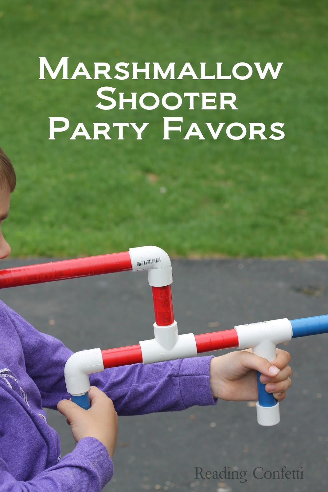marshmallow shooter party favors ~ reading confetti