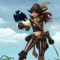 imagen de mujer corsaria