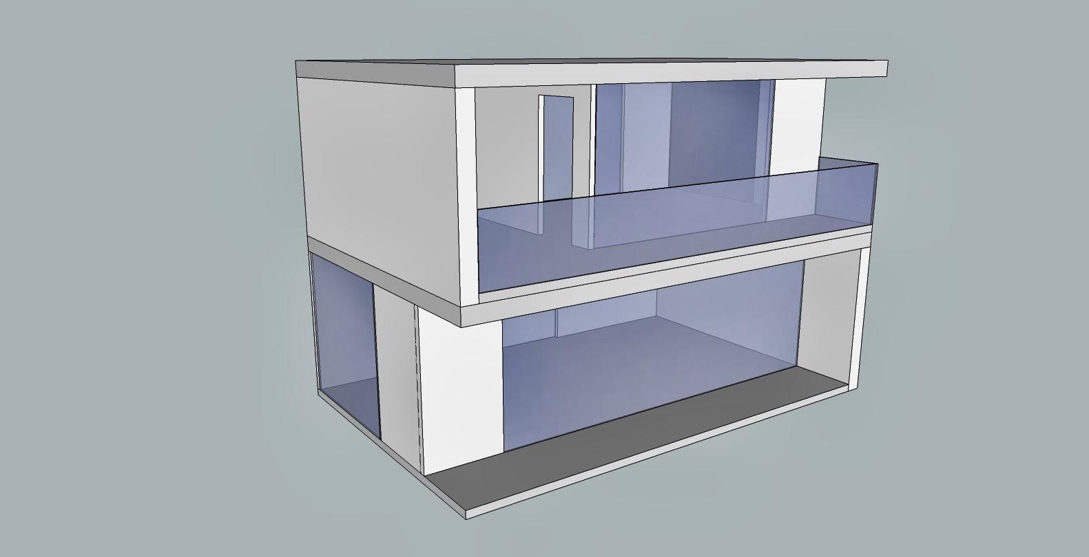 Ejemplo de 2 módulos formando una casa de muñecas moderna