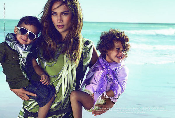 jennifer lopez kids gucci ad. Jennifer Lopez is the only