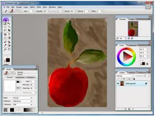 صورة من داخل برنامج الرسم و التلوين