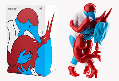 "Kidrobot - ""Pierced"" Vinyl Sculpture and Packaging by Parra"