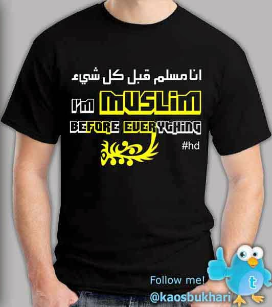 Tshirt Distro Ana Muslim Qabla Kulli Syaiin