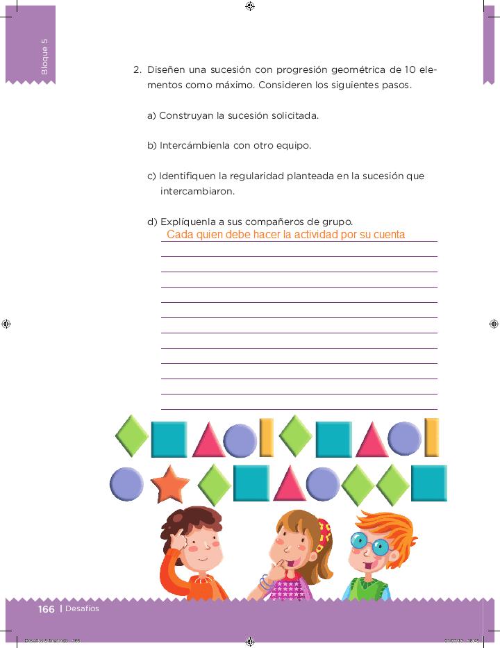 Respuestas Un patrón de comportamiento - Desafíos matemáticos 5to Bloque 5 2014-2015
