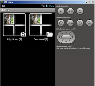 insert file to emulator android SDK before
