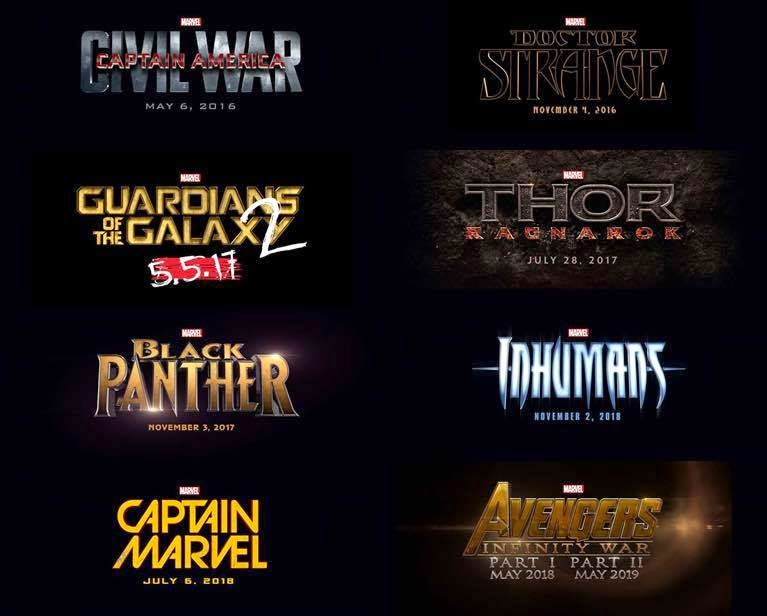 MARVEL PHASE 3 LINE UP