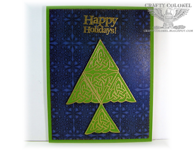 Crafty Colonel Donna Nuce, Club Scrap Woven Strands Club Stamp Kit, Christmas Card