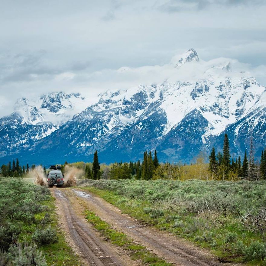 Image result for Never a bad time taking the mud less traveled, Jackson Hole, Wyoming