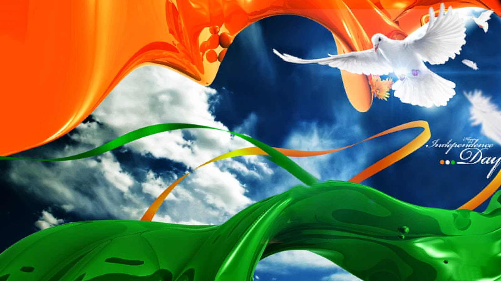 Republic day flag 26 january bird fly in the sky desktop wallpaper