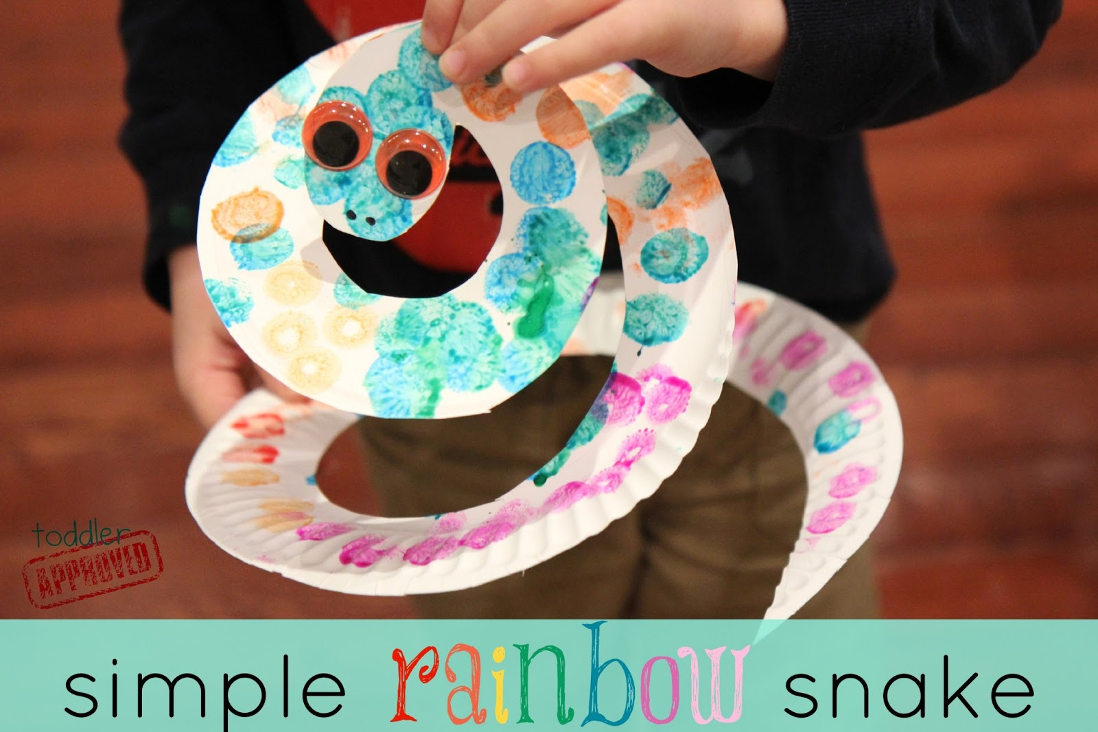 toddler approved mom and tot craft time simple rainbow snake
