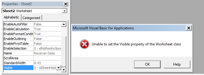 Excel talk xtremeexcel unable to set the visible property of the sometime we see error while unhiding our sheet through vba editor the error is shown below ibookread PDF