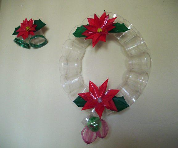 Reciplast adornos navide os for Adornos navidenos reciclados botellas