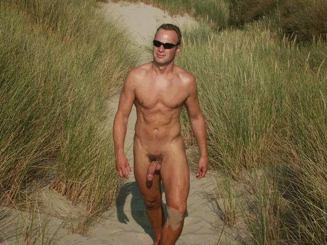 Nude Men Outside 73