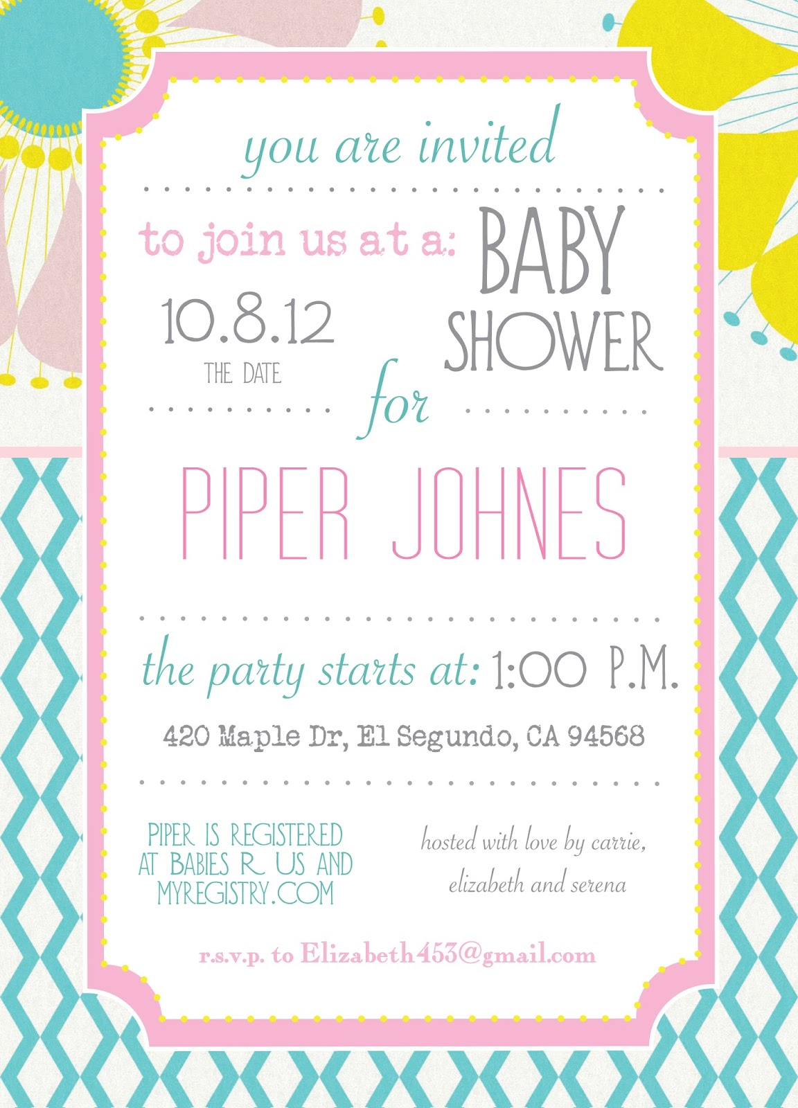baby shower summer season
