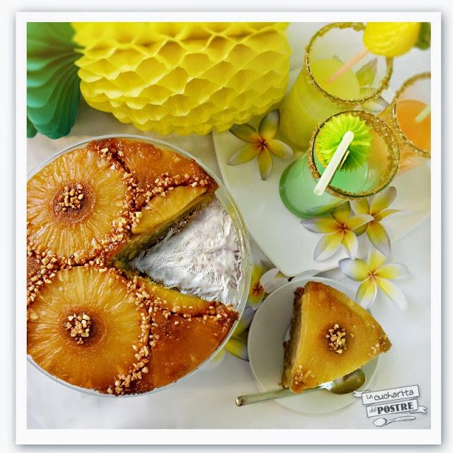Tarta De Piña Invertida / Upside-down Pineapple Cake - Reto Dream Team Dulce De Megasilvita