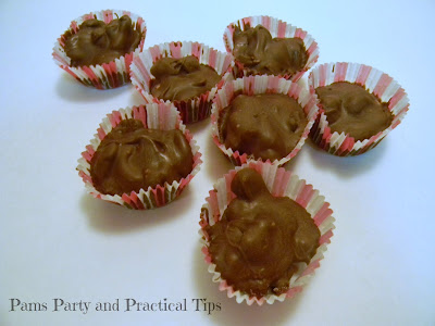 chocolate clusters with nuts and raisins