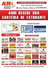 CARTEIRA DE ESTUDANTE AERN EM ASSU