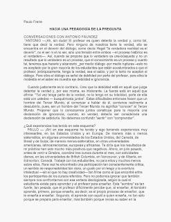 FREIRE-PEDAGOGIA DE LA PREGUNTA