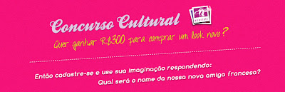 "CCONCURSO CULTURAL ""Escolha o nome da Nossa Amiga Francesa"""