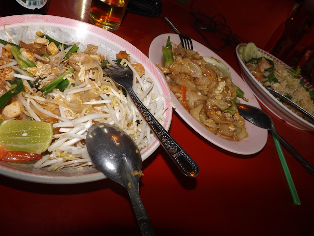 thaïlande, Ayutthaya, tamarind, night market, pad thai