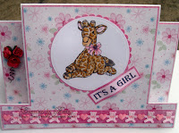 Giraffe card for a little girl, created by Beccy