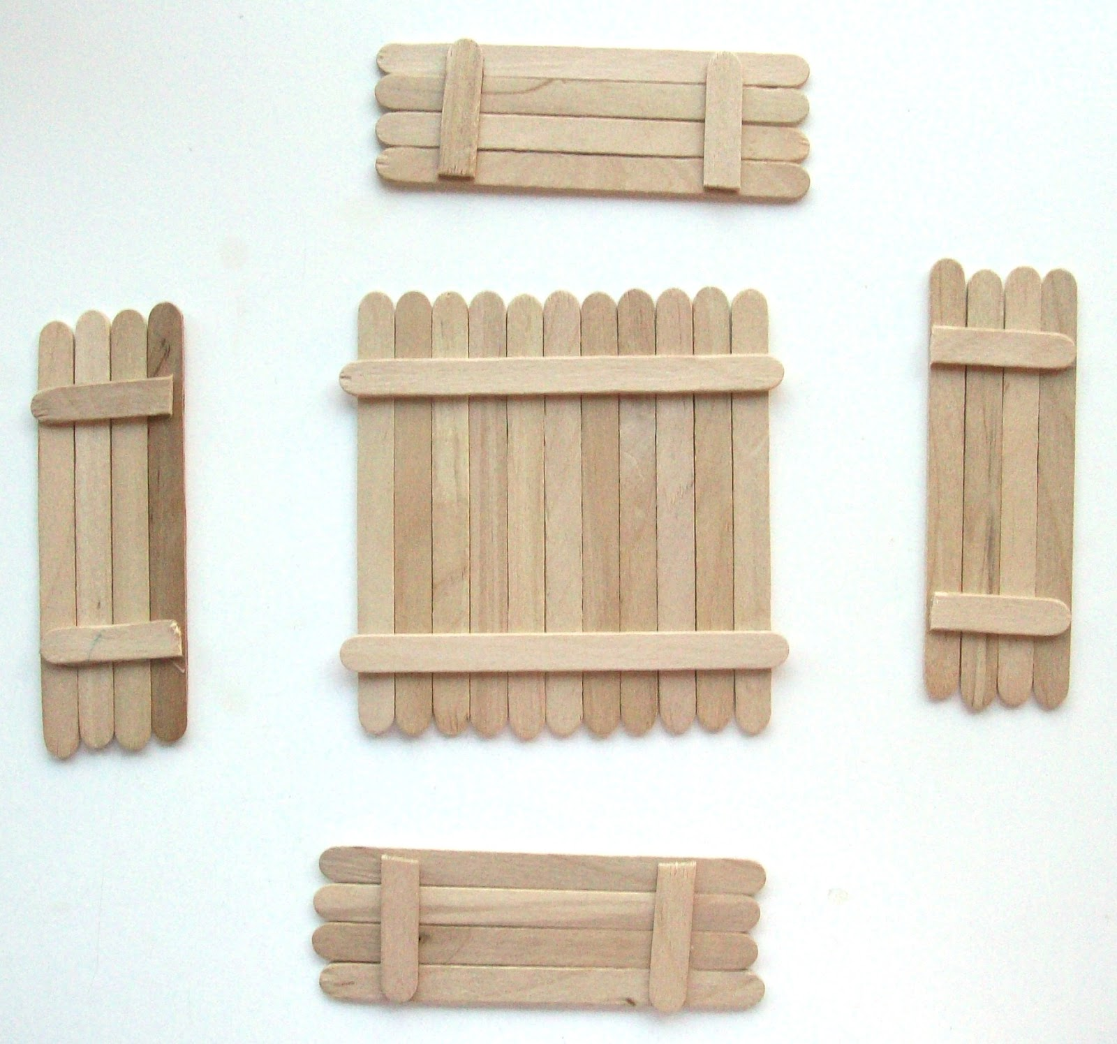 House design using popsicle sticks - 104 Days Of Summer Vacation