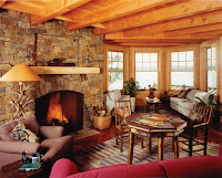 rustic lakeside timber frame