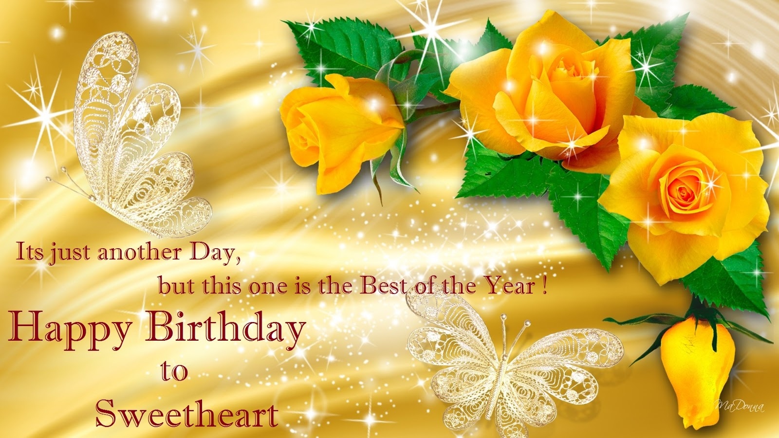 Khushi For Life Birthday Yellow Rose Wishes Cards To Sweetheart Lover