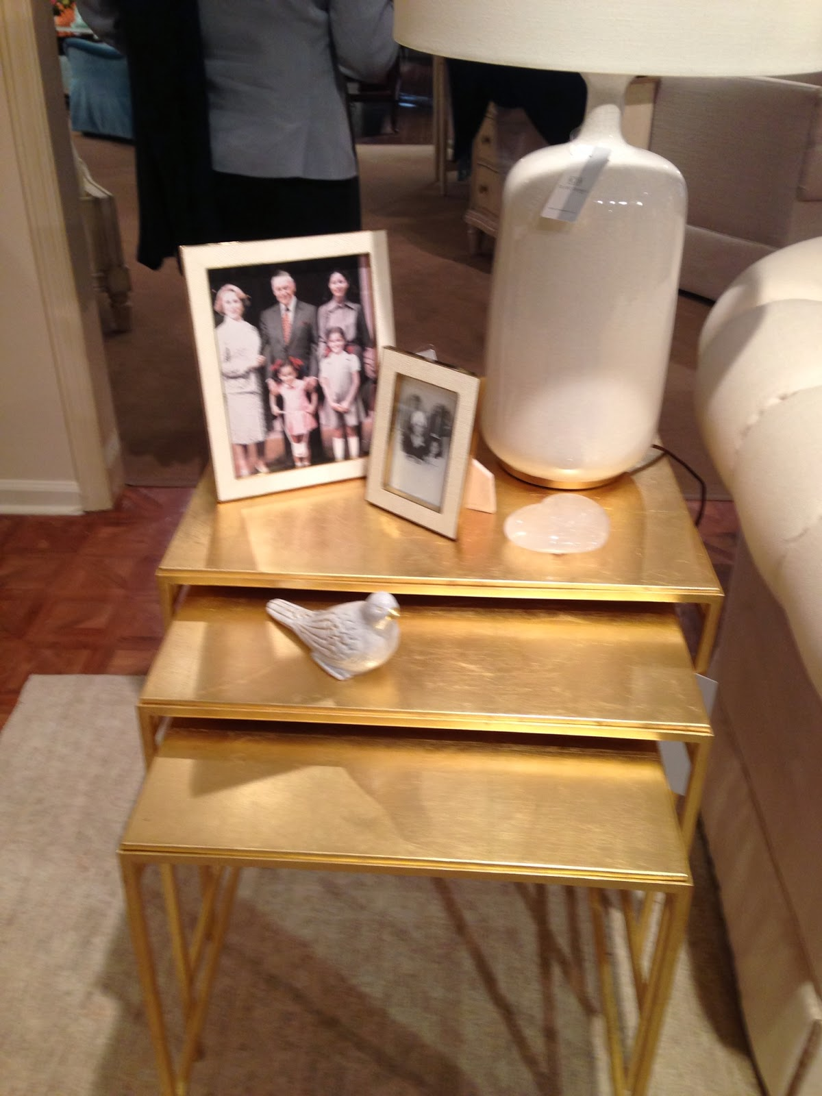 Set Of Gold Nesting Tables