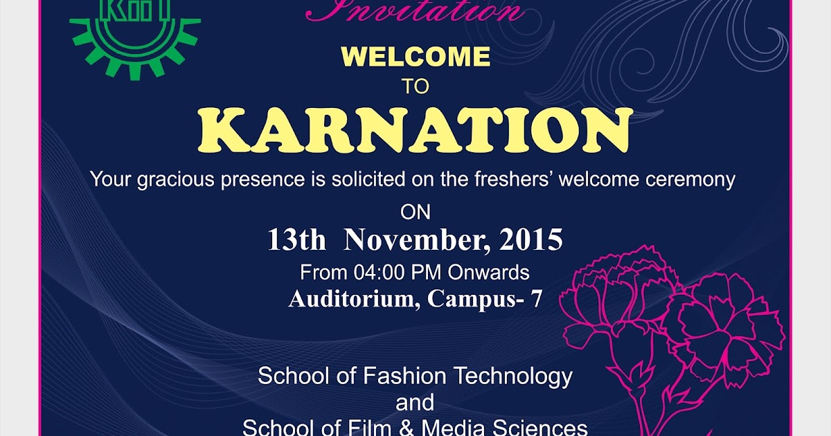 Invitation design for fresher ceremony avinash design studio stopboris Images