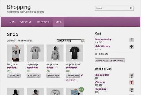 http://wordpress.org/themes/shopping