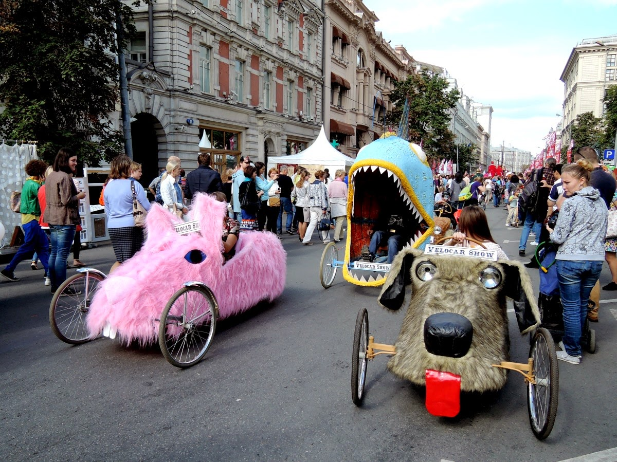 парад веломобилей