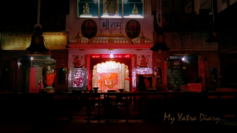 The radiant and reclining image of Khole Ke Hanuman Temple, Jaipur, Rajasthan