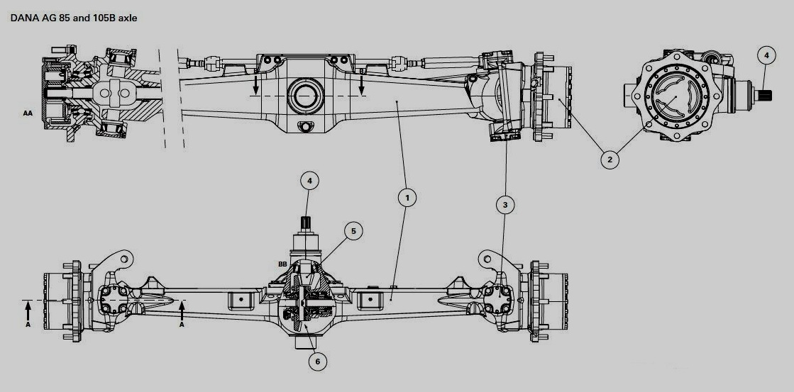 Tractor Front Axle Parts : Tractor parts and attachments dana front axle