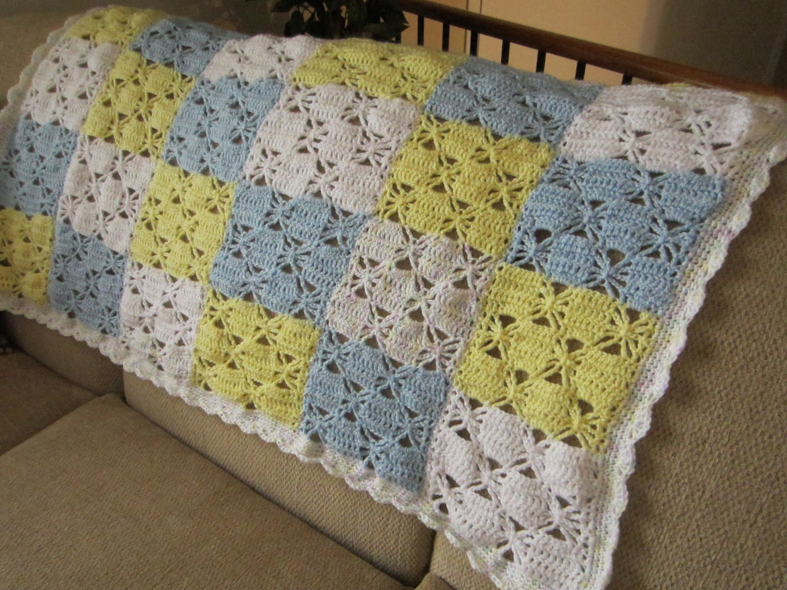 Crocheting Easy Baby Blanket : ... to knitting especially for baby blankets i made this blanket with yarn
