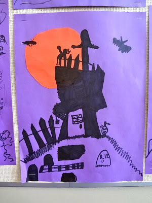 Tim Burton Haunted House kids art project