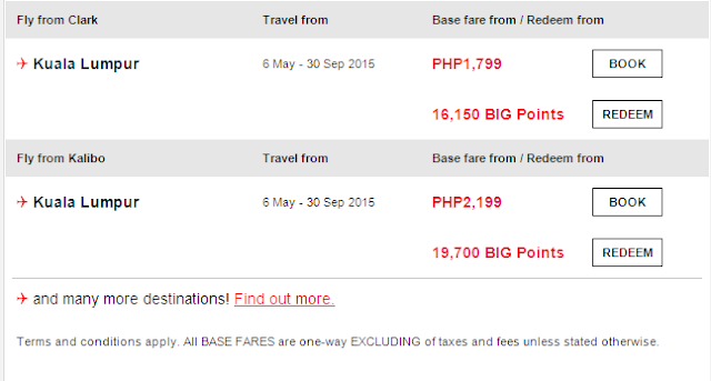 Air Asia Airlines: Salute to the People's Champ Base fare from PHP199!