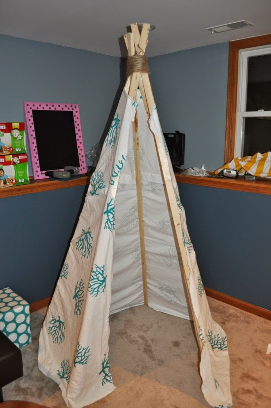 easy teepee tutorial